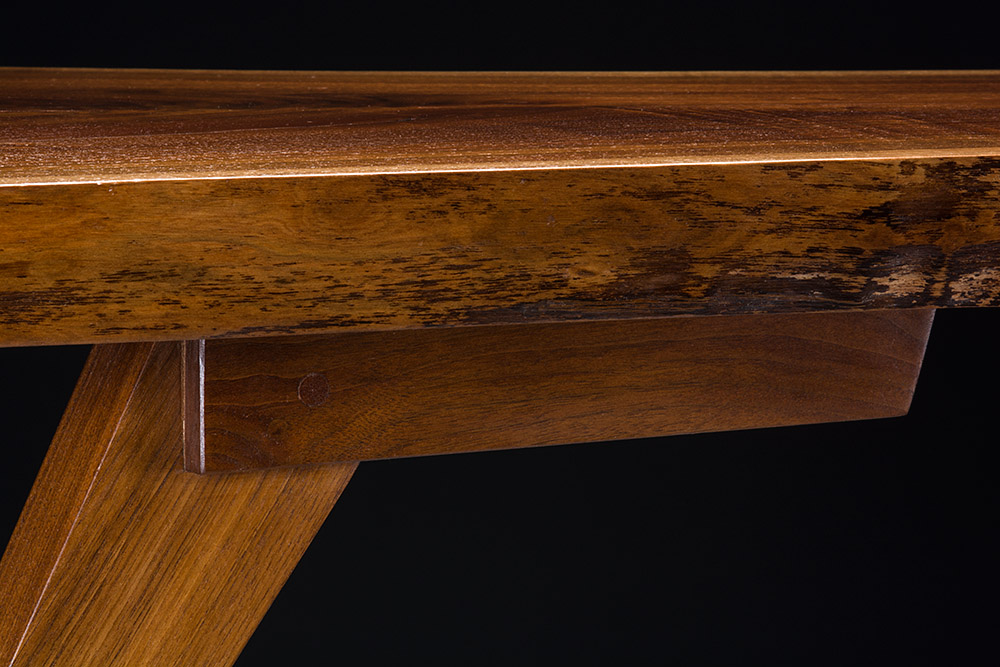 Walnut leg detail