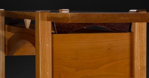 Side bridge: tiger maple and wenge detail #1 (Item: BRGS7)